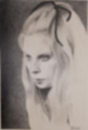 Zeichnung - Portrait von Ursula Kaumanns