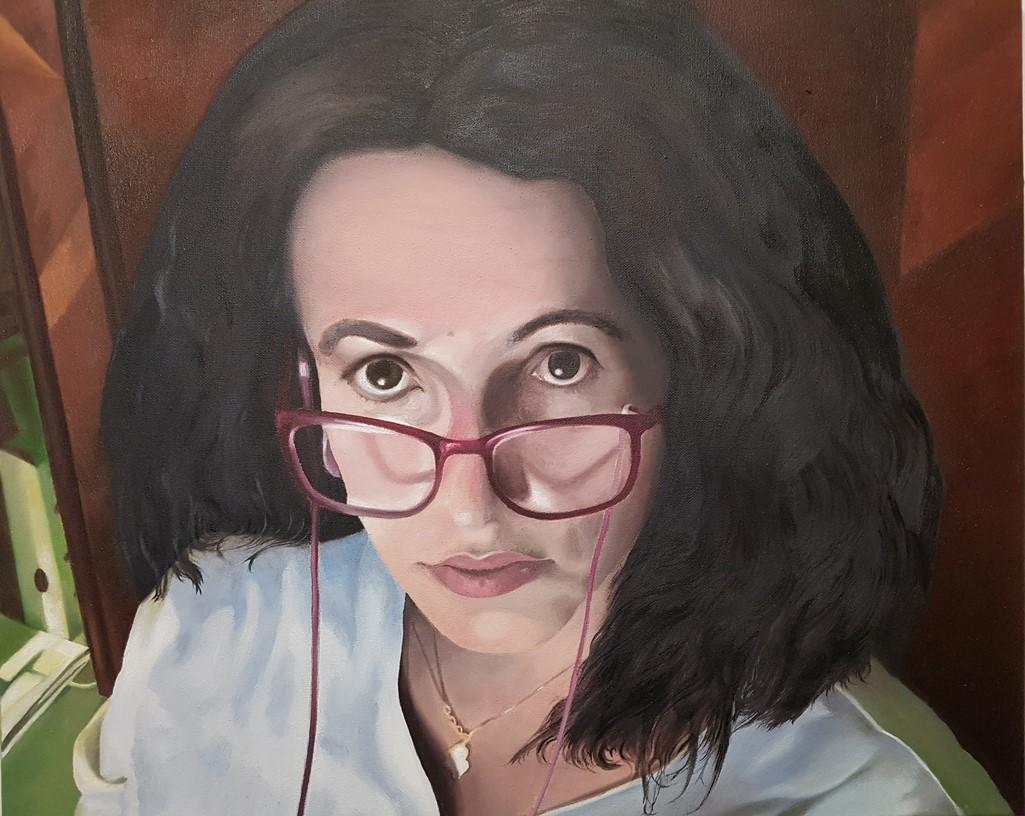 Portrait Mariarosa Riva - Oel .