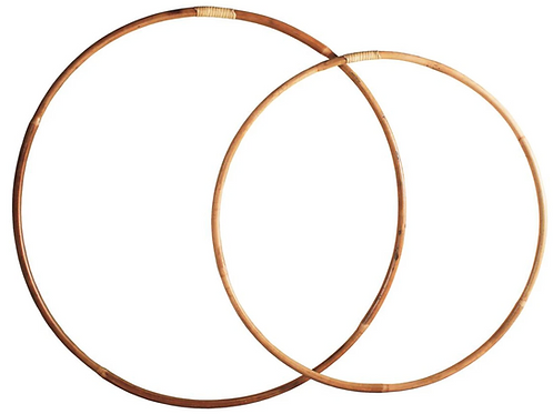 Imperfectly perfect rattan hula hoop