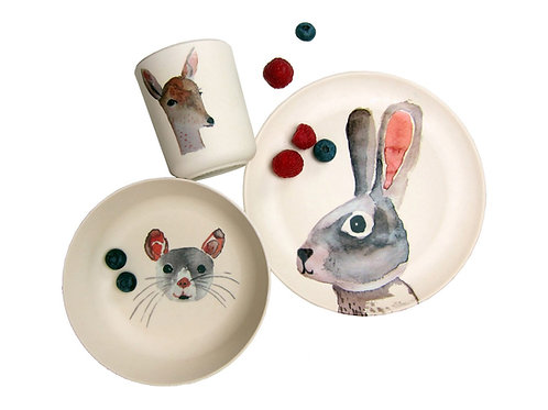 Bunny & friends - Bamboo set