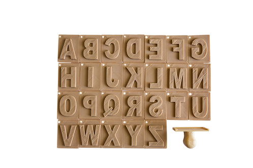 Upper case alphabet eco stamp set