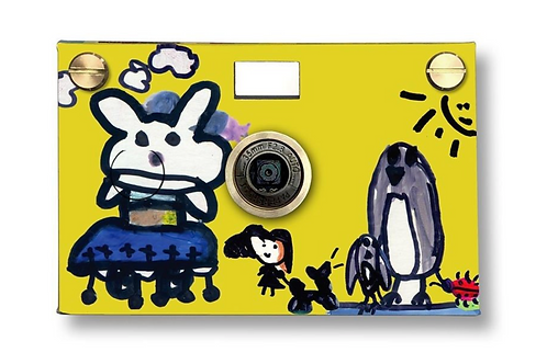 Happy bunny digital paper camera
