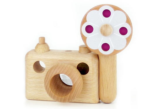 35MM Big flash wooden toy camera