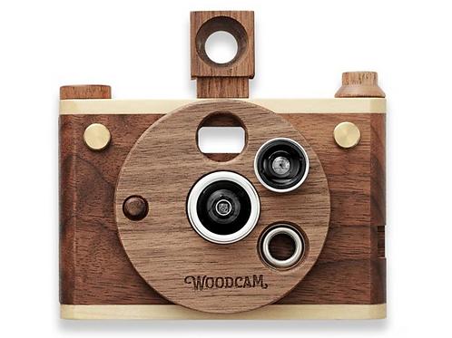 Multi lens wooden digital camera