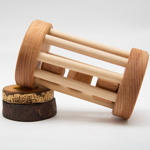 Montessori wooden rattle
