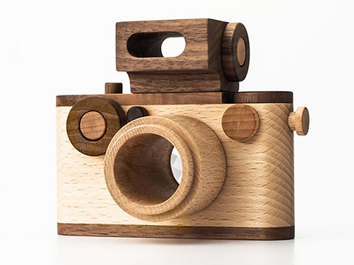 35MM vintage style wooden toy camera