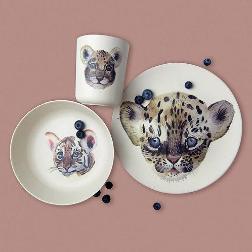 Leopard & friends - Bamboo set