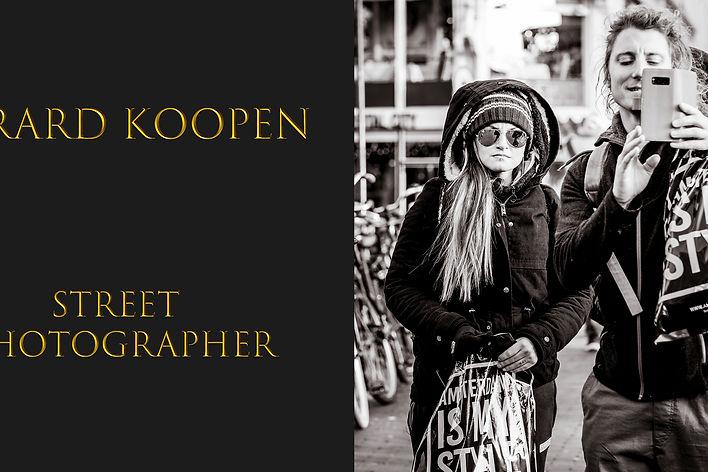 Gerard Koopen work focuses on street views of daily life.