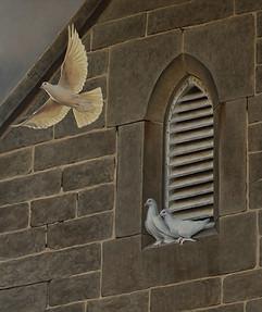 'Leap of Faith' Doves 140 x 120 cm birds