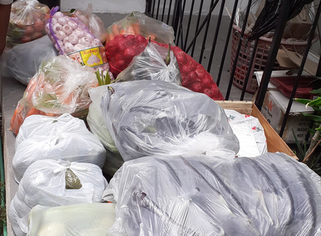 154 Donated Food Packs for Families under Hard Lockdown