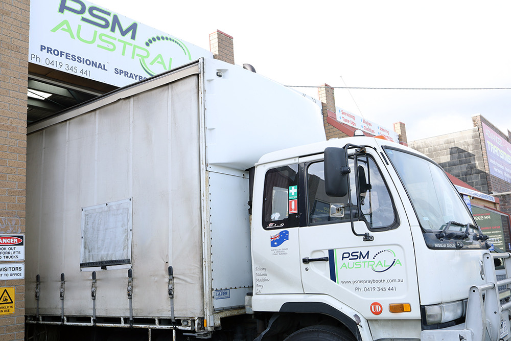 PSM Australia truck to dispose water waste