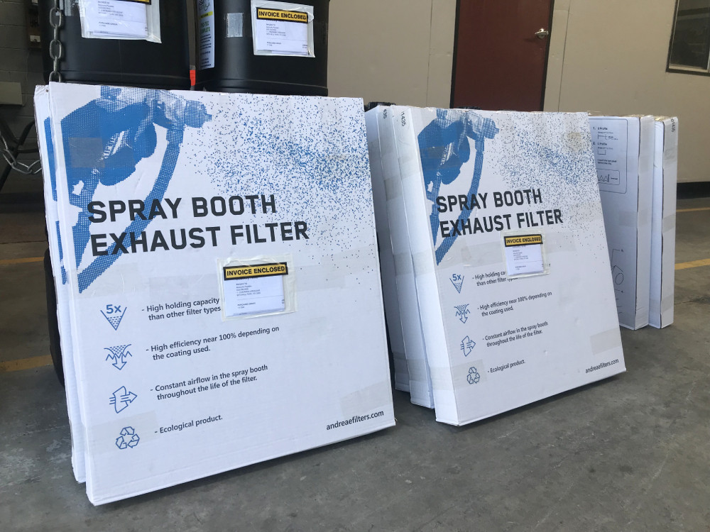 high-quality exhaust filter for your spray booth