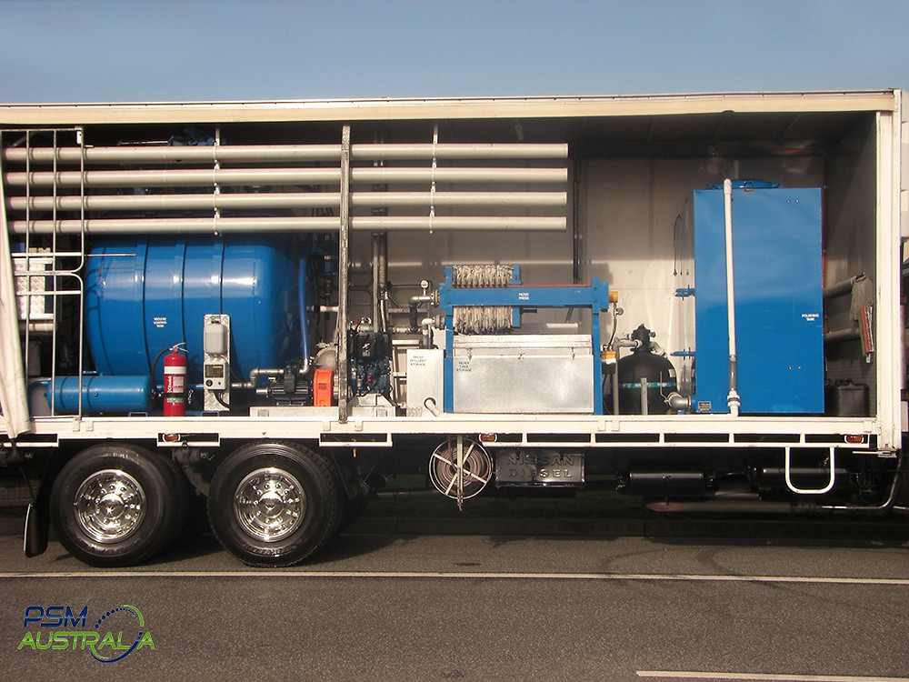 PSM Australia mobile treatment plant for liquid waste