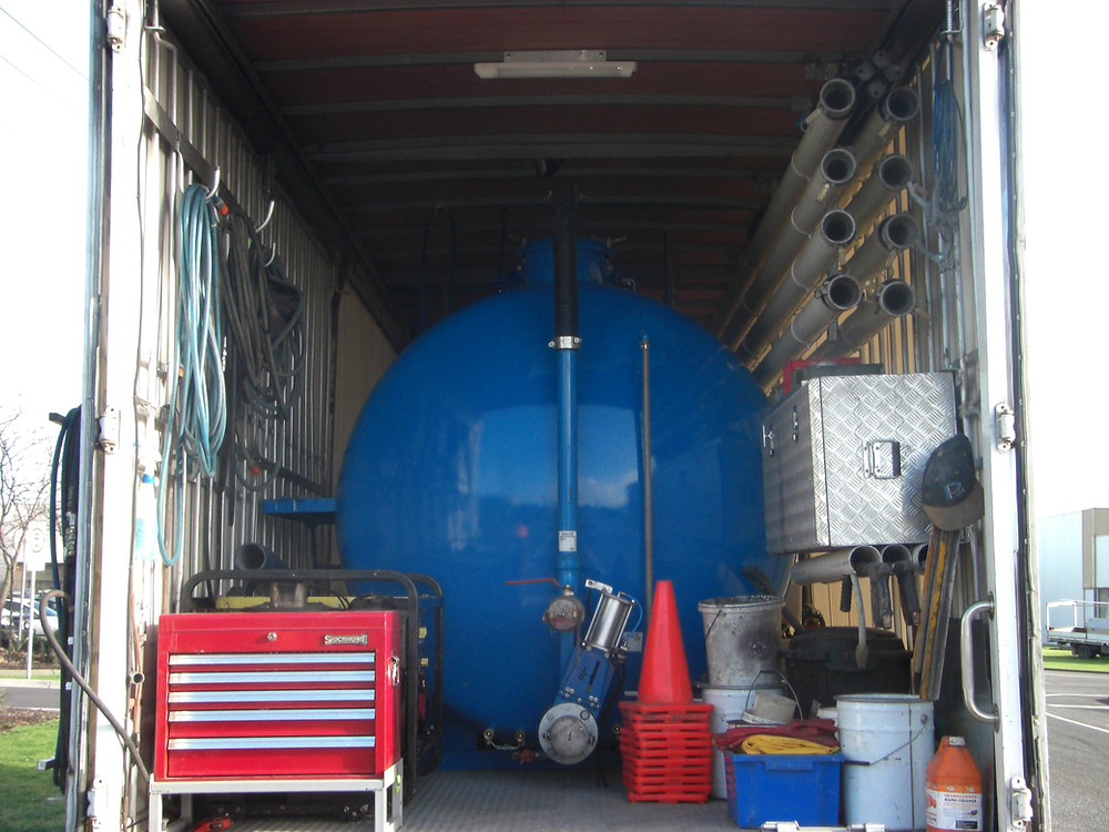PSM Australia's vacuum tank for waterwaste disposal