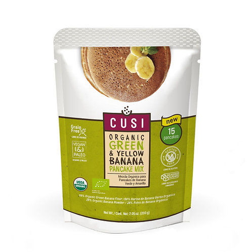 Organic Green & Yellow Banana Pancake Mix