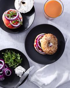 Smoked Salmon Bagel Lunch Image