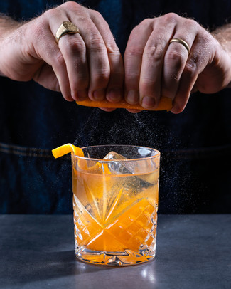 Old Fashioned Cocktail Zest Image
