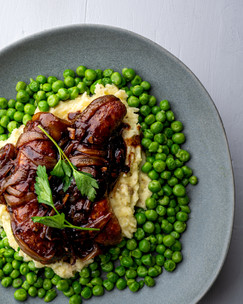 Bangers and Mash with Peas Image