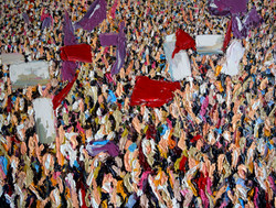 Banderas purpuras