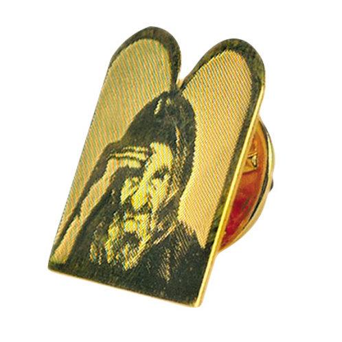סיכה לדש בשילוב חריטה בצורת ספר תורה מצופה זהב