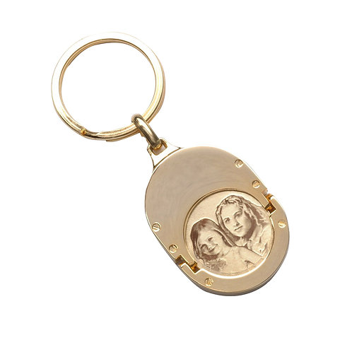 מחזיק מפתחות מזהב עם חריטה אישית