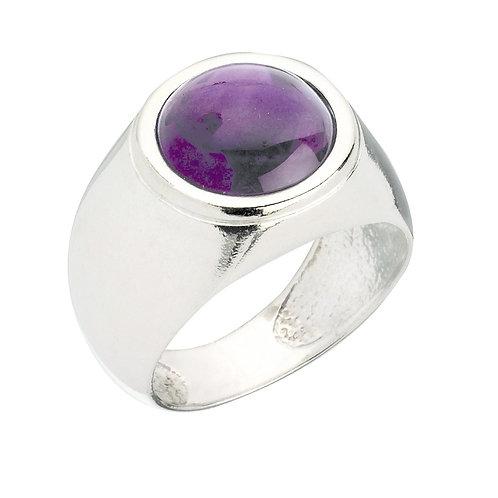 טבעת מוצפנת עגולה אמטיסט