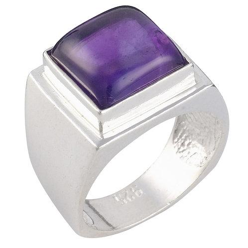 טבעת מוצפנת מרובעת אמטיסט