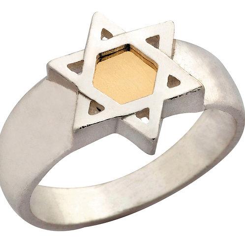 טבעת מגן דוד 5 מתכות