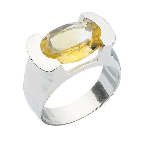 טבעת מוצפנת אובלית סיטרין
