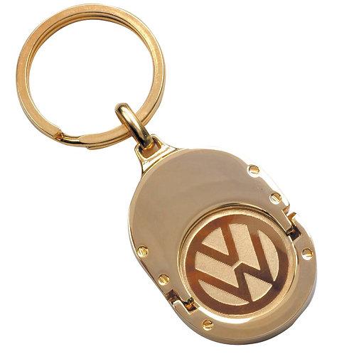 מחזיק מפתחות ממותג עם לוח זהב