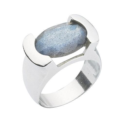 טבעת מוצפנת אובלית  לברדורייט