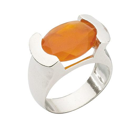 טבעת מוצפנת אובלית קארנליאן