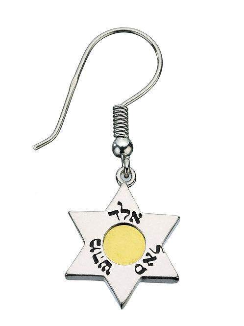 עגילי מגן דוד 5 מתכות