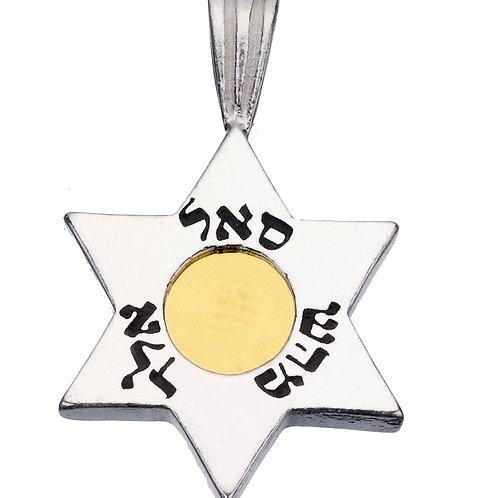 תליון מגן דוד 5 מתכות