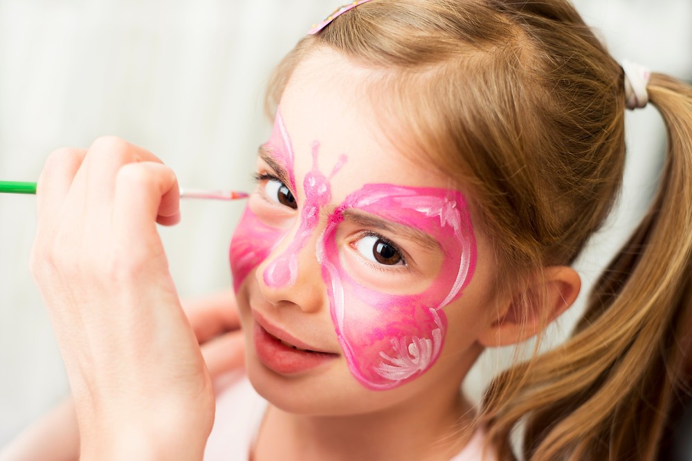 Butterfly Face Painting - image via iStock