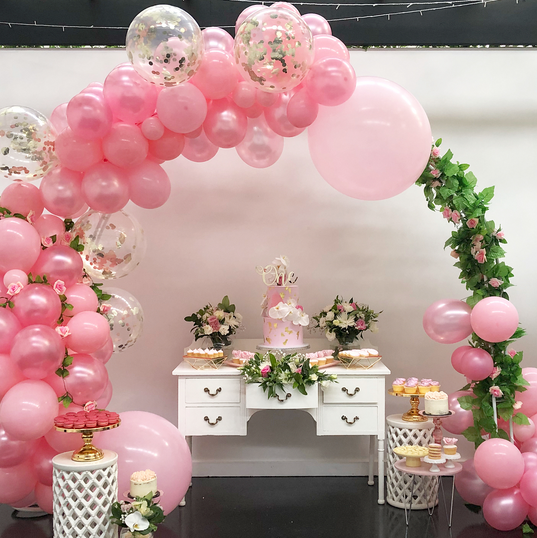 1st Birthday _ pink, gold and floral inspired