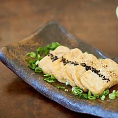Fried tofu with walnut and miso sause (V)