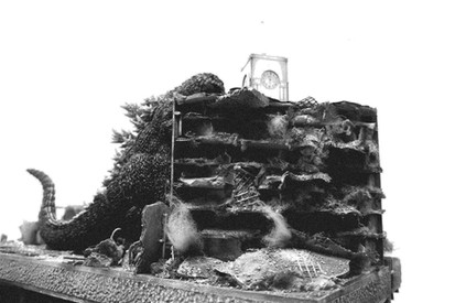 1954 Godzilla attack Tokyo Clock Tower