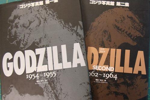 Godzilla Pictorial Book 1954 -1964 Hard Cover 1st Print Set Of 2 Osamu Kishikawa