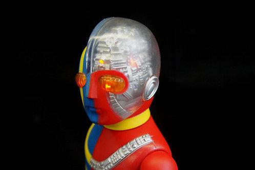 照明システムを備えたキカイダービニロイドビニールフィギュアキカイダーソフビマルサン