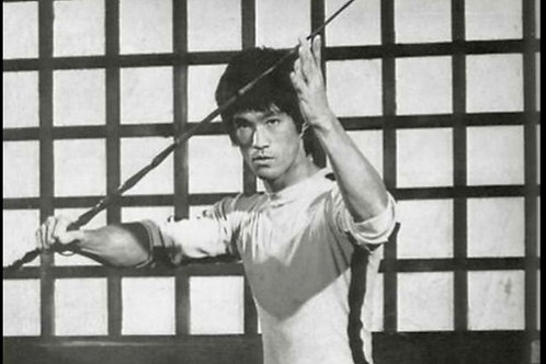 Bruce Lee Game Of Death 1:1 scale Green Bamboo Replica Prop G.O.D.