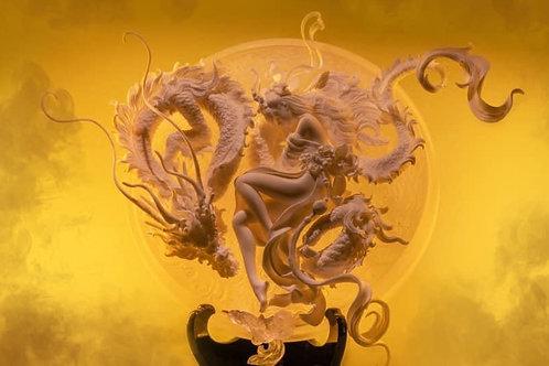 Sleeping With Dragon resin model
