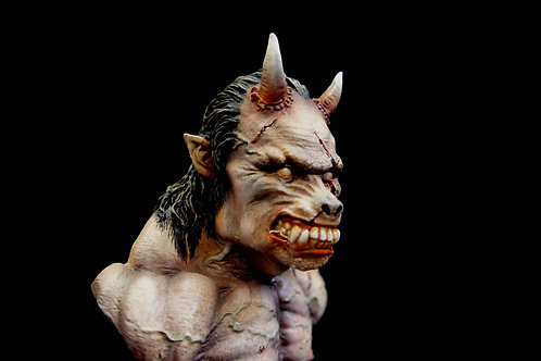 Demarch Oni-Zaru 1:4 scale Art Statue Demon Ape Bust Japan WF Limited