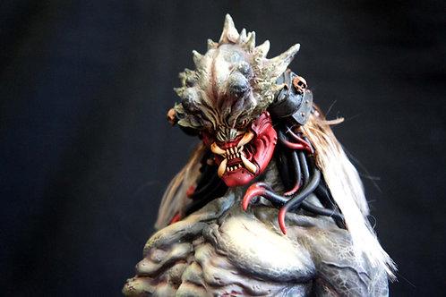 Samurai Predator Art Statue Diorama サムライ・プレデター