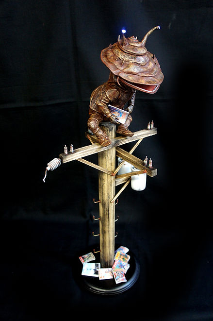 Lonely Kanego Diorama Art Statue