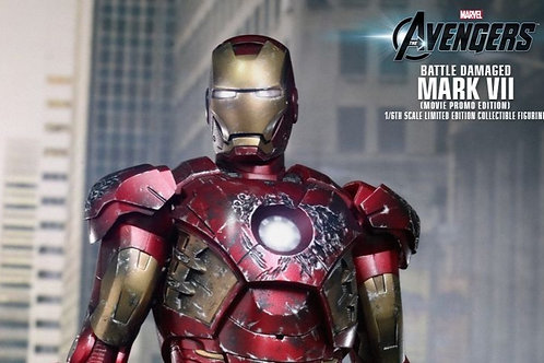 The Avengers Iron Man MK VII (Battle Damage Version) 1:6 figure MMS-196