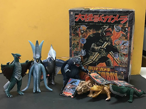 History Of Gamera 7 vinyl figures set Sofubi
