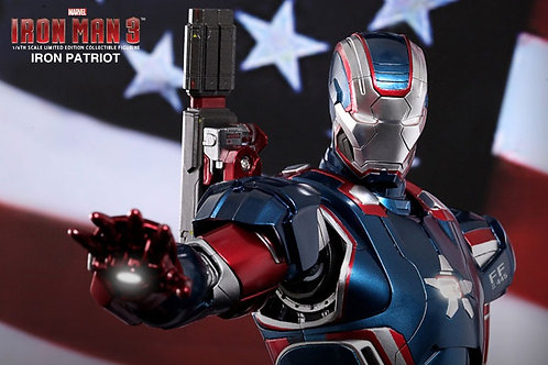 Iron Man Iron Patriot 1:6 figure Diecast Metal MMS195-D01