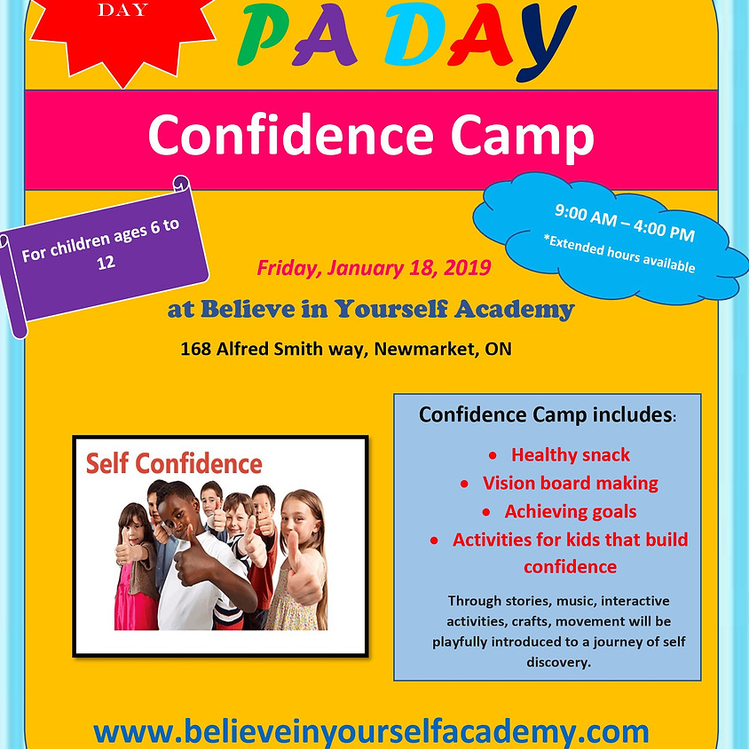 PA Day Confidence Camp
