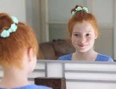 """Mirror Exercise- Building self -esteem  Every night, before going to bed, stand in front of a mirror and appreciate yourself for all that you accomplished during the day. Look deep into your eyes and hold for a few seconds. Maintain eye contact with yourself throughout the exercise.  1. Say your name. 2. Appreciate yourself by acknowledging what you did that day, like:  Your accomplishments and successes – Example: """"today I got a good mark on a test"""" or """"I scored a goal in soccer"""" Risks taken – Example: """"I introduced myself to the new student in class """"or """"I stood up for a kid being bullied"""" or """"I apologized to my friend for…"""". A risk is anything that leaves you vulnerable. Disciplines kept – Example: """"I did my homework"""" or """"I did my chores"""" or """"I went for a morning run""""  Temptations resisted – Example: """"I didn't lash out when I was angry about…"""" or """"I only ate ONE cupcake instead of 10"""" or """"I didn't buy that thing I couldn't afford"""" or """"I was honest instead of lying when…"""" 3. Say """"I love you!"""" to yourself. 4. Take it in by taking a deep breath."""